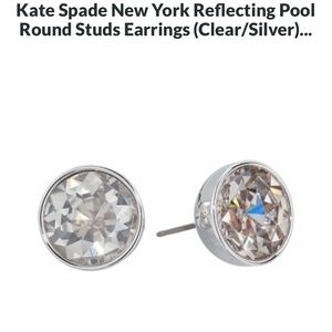 NWT KS Reflecting Pool Round Studs Earrings